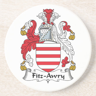 Escudo de la familia de Fitz-Awry Posavasos Cerveza