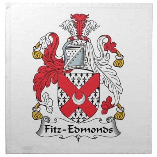 Escudo de la familia de Fitz-Edmonds Servilleta