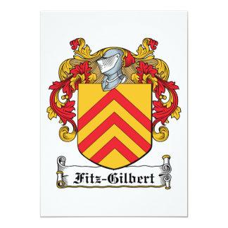 """Escudo de la familia de Fitz-Gilbert Invitación 5"""" X 7"""""""