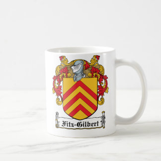 Escudo de la familia de Fitz-Gilbert Taza Básica Blanca