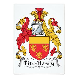 """Escudo de la familia de Fitz-Henry Invitación 5"""" X 7"""""""