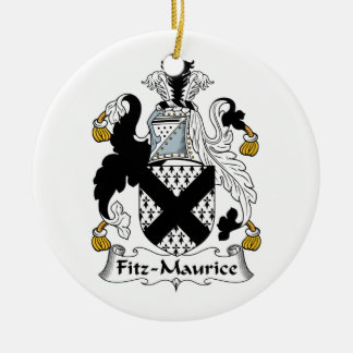 Escudo de la familia de Fitz-Mauricio Adorno Redondo De Cerámica