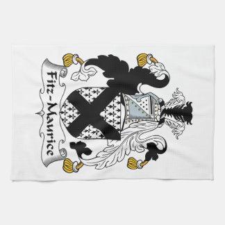 Escudo de la familia de Fitz-Mauricio Toallas De Cocina
