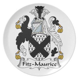 Escudo de la familia de Fitz-Mauricio Plato De Cena