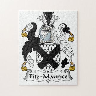 Escudo de la familia de Fitz-Mauricio Puzzles Con Fotos