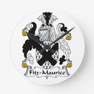 Escudo de la familia de Fitz-Mauricio Reloj Redondo Mediano