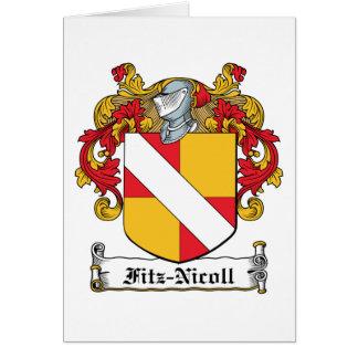 Escudo de la familia de Fitz-Nicoll Felicitaciones