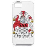 Escudo de la familia de Fitz-Oliverio iPhone 5 Case-Mate Carcasa