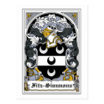 Escudo de la familia de Fitz-Simmons Postales