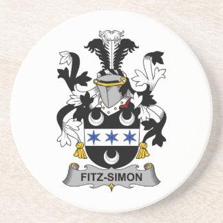 Escudo de la familia de Fitz-Simon Posavasos Personalizados
