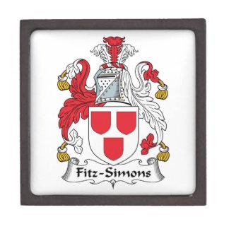 Escudo de la familia de Fitz-Simons Cajas De Regalo De Calidad