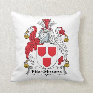 Escudo de la familia de Fitz-Simons Cojin