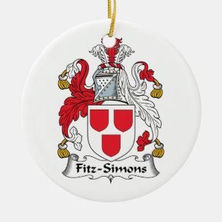 Escudo de la familia de Fitz-Simons Ornamento Para Arbol De Navidad