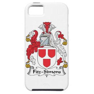 Escudo de la familia de Fitz-Simons iPhone 5 Case-Mate Coberturas