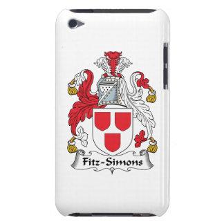 Escudo de la familia de Fitz-Simons Barely There iPod Carcasa