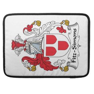 Escudo de la familia de Fitz-Simons Fundas Macbook Pro
