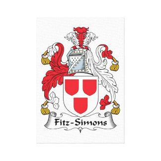 Escudo de la familia de Fitz-Simons Impresión De Lienzo
