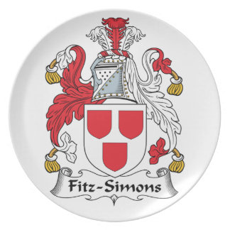 Escudo de la familia de Fitz-Simons Platos