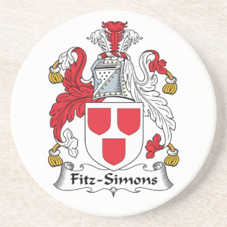Escudo de la familia de Fitz-Simons Posavasos Para Bebidas