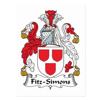 Escudo de la familia de Fitz-Simons Postales