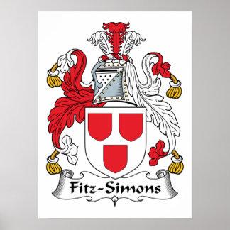 Escudo de la familia de Fitz-Simons Posters