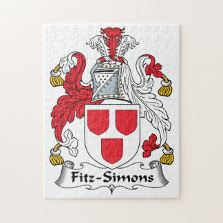 Escudo de la familia de Fitz-Simons Puzzles