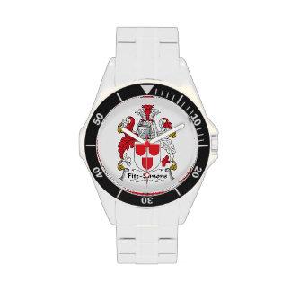Escudo de la familia de Fitz-Simons Reloj