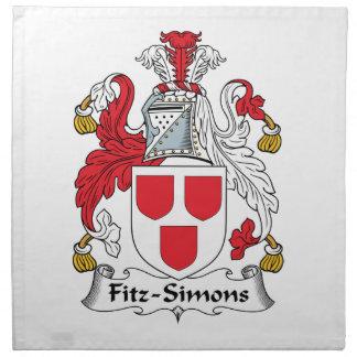 Escudo de la familia de Fitz-Simons Servilletas Imprimidas