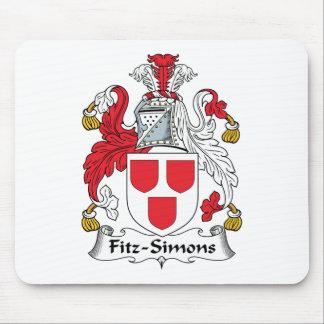 Escudo de la familia de Fitz-Simons Alfombrillas De Ratón