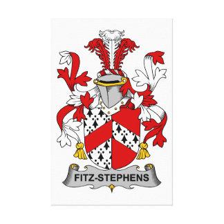 Escudo de la familia de Fitz-Stephens Impresiones De Lienzo