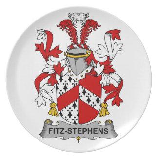 Escudo de la familia de Fitz-Stephens Plato De Comida