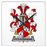 Escudo de la familia de Fitz-Stephens Reloj