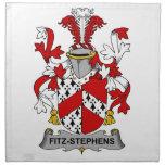 Escudo de la familia de Fitz-Stephens Servilleta