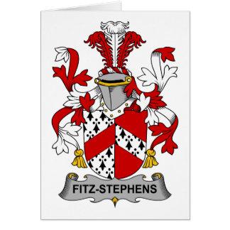 Escudo de la familia de Fitz-Stephens Tarjeta De Felicitación