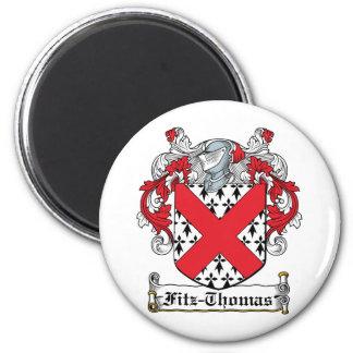 Escudo de la familia de Fitz-Thomas Imán Redondo 5 Cm