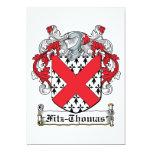 Escudo de la familia de Fitz-Thomas Invitación 12,7 X 17,8 Cm