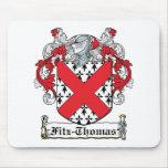 Escudo de la familia de Fitz-Thomas Alfombrillas De Raton