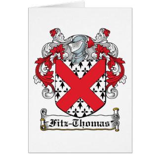 Escudo de la familia de Fitz-Thomas Tarjeta De Felicitación