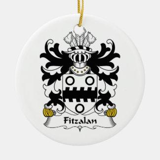 Escudo de la familia de Fitzalan Adorno Navideño Redondo De Cerámica