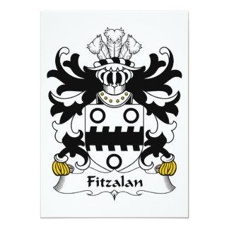 """Escudo de la familia de Fitzalan Invitación 5"""" X 7"""""""