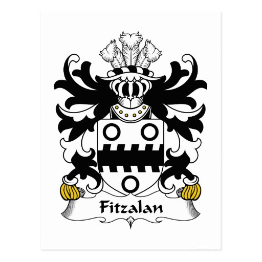 Escudo de la familia de Fitzalan Postales