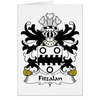 Escudo de la familia de Fitzalan Tarjeta De Felicitación