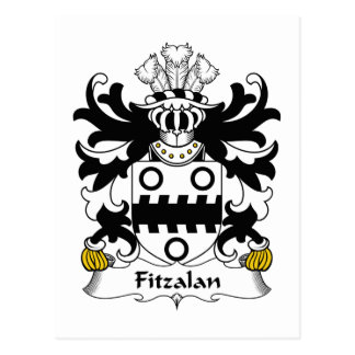 Escudo de la familia de Fitzalan Tarjeta Postal