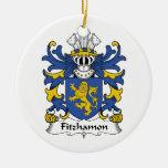 Escudo de la familia de Fitzhamon Adorno De Navidad