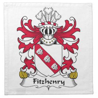 Escudo de la familia de Fitzhenry Servilletas De Papel