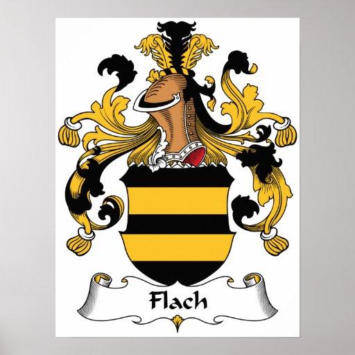 Escudo de la familia de Flach Impresiones