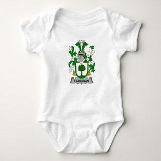 Escudo de la familia de Flanagan Body Para Bebé