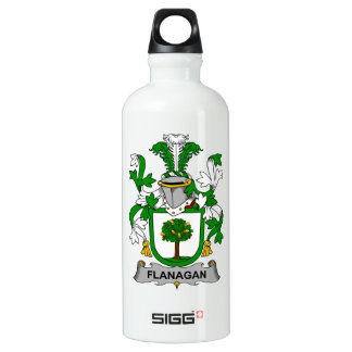 Escudo de la familia de Flanagan Botella De Agua