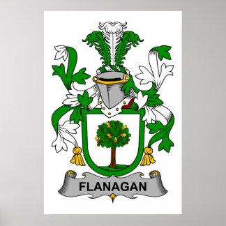 Escudo de la familia de Flanagan Póster