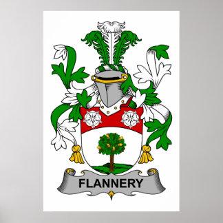 Escudo de la familia de Flannery Póster